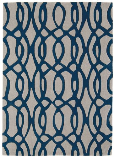 Matrix 100% Pure Wool MAX36 Wire Blue Rug